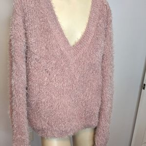 Pink Rose - fuzzy pink sweater